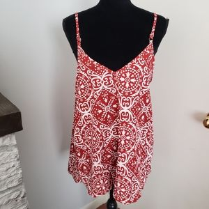 Tops - 🍒5for$10 Red and White flowy top. Size Large